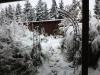 Blick zum winterlich verschneiten Taubenzüchter-Stüble